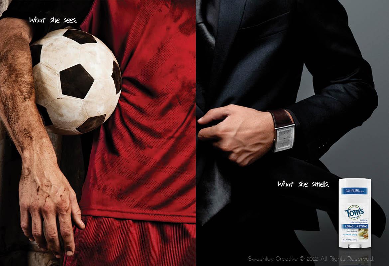 Deodorant for men ads